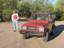 Me & Suzi Q on the desert