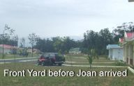 Front yard before Joan