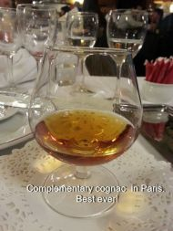 Complementary cognac in Paris. Best ever!