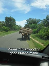 Means of transporting goods Mano mano