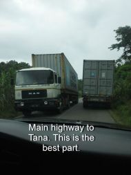 Main highway to Tana. This is the best part.