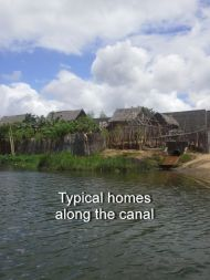 Homes along the canal
