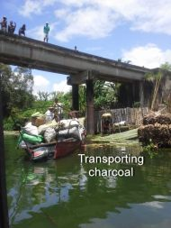 Transporting charcoal